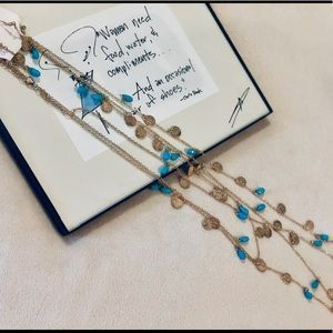 Triple strand necklace with earrings